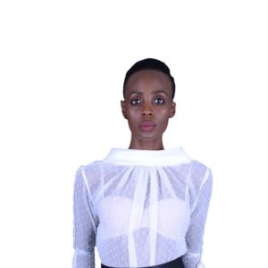 RUB268 - Blouse with Roll collar (Image 1)